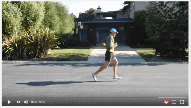 An example of a side profile video featuring a runner